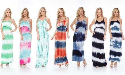 Women's Kalea Tie-Dye Overlay Maxi Dress