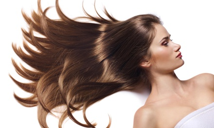 A Haircut and Brazilian Blowout from Hairapy by Tara at The Salon Upstairs (50% Off)