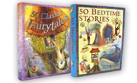 50 Bedtime Stories and 50 Classic Fairytales 2-Book Bundle