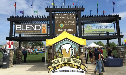 $40 for a Central Jersey Beer Festival Ticket with a Souvenir Glass and Shirt ($70 Value)