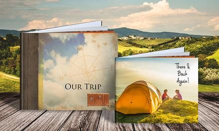 Álbum de fotos personalizado com capa dura de 30x30 cm e disponível com 20, 40, 60 ou 100 páginas desde 12,95€