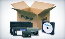 $39 for Digital Conversion for Up to Six Videos from PhotoBin ($109 Value)