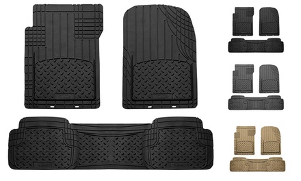 Trimmable 3-Piece All-Weather Floor-Mat Set