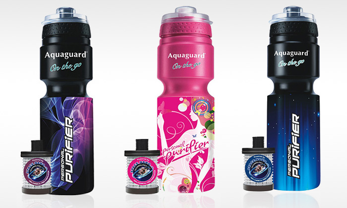 From Rs.495 for a Eureka Forbes On the Go Bottle. Choose from 4 Colors and with/without Extra Refill