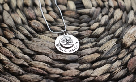$19 for a Personalized Hand-Stamped Family Tree Necklace from Love Stamped ($40 Value)