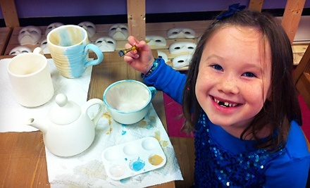 Walk-In Pottery Painting, or Pottery Painting Party for Eight People at Art Smart Academy (50% Off)