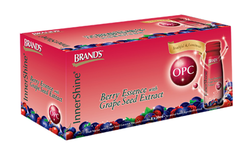 brands innershine opc Sold out brand's innershine opc (berry essence with grape seed extract) brand's innershine opc (berry essence with grape seed extract) the box contains 8 bottles (8x 50 ml.