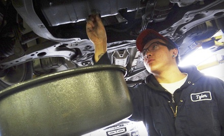 "Regular or Synthetic Oil Change with Tire Rotation, Inspection, and Fluid at Auto Repairs R ""Wee"" (Up to 64% Off)"