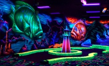 Black-Light Mini-Golf and Mini-Bowling for Four or Golf Simulator Play at Oceans 18 in New Bedford (Up to 52% Off)