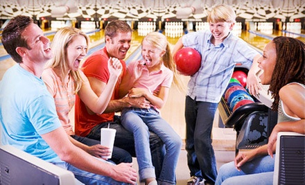 Two Hours of Bowling for Up to 6 or 12 People with Option for Large Pizza at Burlington Bowl (Up to 77% Off)