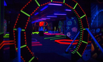 Round of Black-Light Mini Golf Two or Four at Glow-A-Rama (Up to 53% Off)