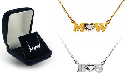 1 ou 2 colares personalizados com iniciais e cristal Swarovski Elements desde 14,99€