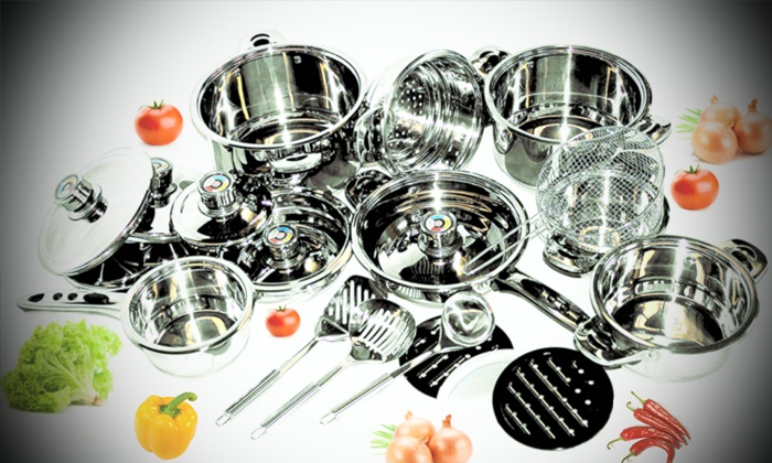 Groupon Goods: 16 or 21-Piece Mafy Pot Set from R1 199.99 Including Delivery (Up to 50% Off)
