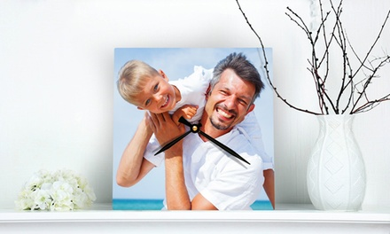 Round or Square Custom Photo Clock from PhotoClocks.com (Up to 75% Off). Three Options Available.