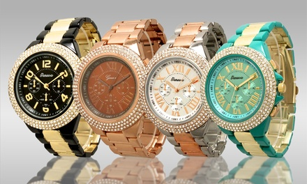 Geneva Women's Tri-Stone Watch