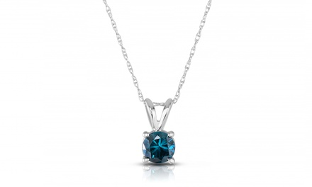 1/4 CTTW or 1/2 CTTW Blue Diamond Pendant in 14K White Gold from $119.99 to $299.99