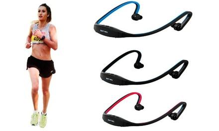 Auriculares desportivos com MP3 e rádio FM por 14,90€ ou dois por 22,90€