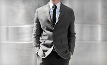 $599 for a Men's Custom-Tailored Suit Package at Cuffs and Collars (Up to a $1,644 Total Value)