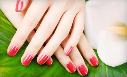 One or Three Spa Manicures or One Shellac Manicure at Hairquarters West Salon & Spa (Up to 52% Off)