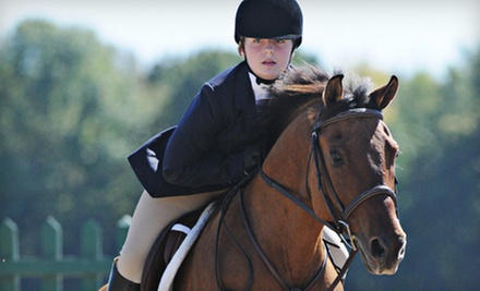 $35 for a One-Hour Private Horseback-Riding Evaluation Lesson at Great Escape Stables ($70 Value)