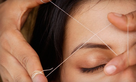 Threading Session for Eyebrows and Upper Lip or Eyebrows and Full Face at Kauser's Salon and Spa (Up to 55% Off)