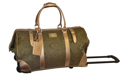 groupon daily deal - Adrienne Vittadini 21'' Paisley Rolling Duffel Bag. Free Returns.