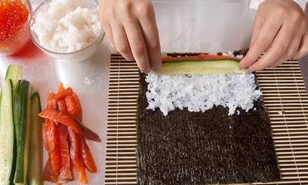 Sushi-Making Class with Sake and a Bamboo Mat to Take Home for One or Two at Kurama (Up to 50% Off)