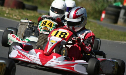 Two Go-Kart Races or Go-Kart Driving School with Rental Gear at Whiteland Raceway Park (Up to 50% Off)