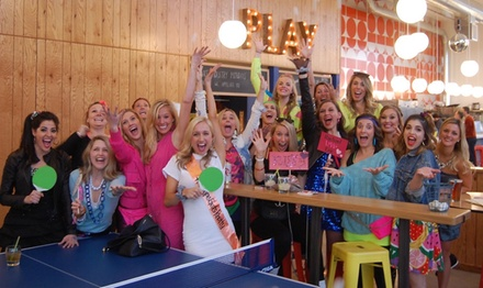 $16 for a One-Hour Ping Pong Table Rental for Four or More People at Pips & Bounce ($29 Value)