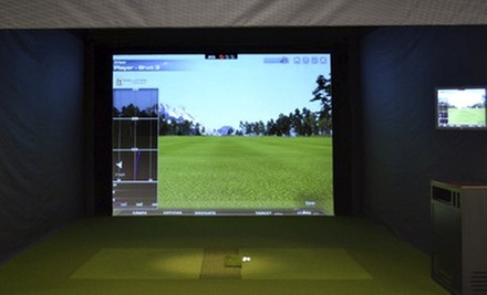 One Hour in a Golf Simulator for One Player or Two Hours for Two at The Players Club (Half Off). Four Options Available.