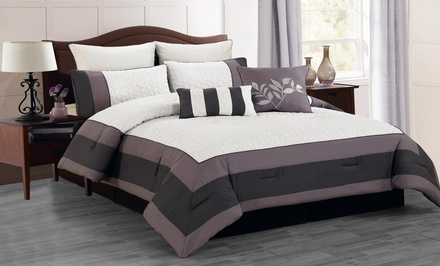 Oversized and Overfilled 8-Piece Quilted Comforter Sets. Multiple Styles Available. Free Returns.