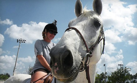 Horseback-Riding Lessons at Lazy Acres Farms (Up to 53% Off). Three Options Available.