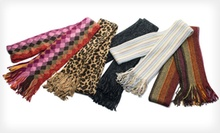 Cejon Women's Metallic Acrylic Muffler Scarves (Up to 79% Off). Multiple Colours Available.