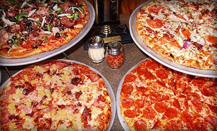 $15 for $30 Worth of Pizzeria Food or Pizza Meal for Four with Salad, Breadsticks & Drinks at Cool River Pizza Roseville