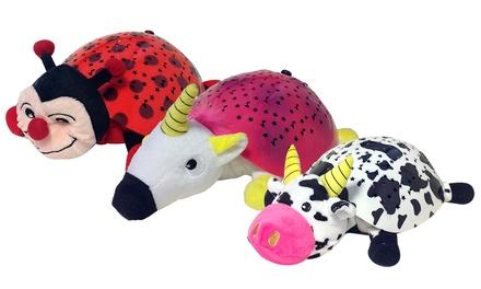 Peluche projetor de estrelas no modelo Vaca, Unicórnio ou Joaninha por 16,90 €