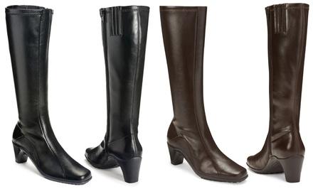 Aerosoles Women's Lasticity Wide Calf Stretch Knee High Dress Boot