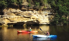 Half-Day Single-Kayak, Double-Kayak, Paddleboat, or Canoe Rental at Dells Watersports (Up to 52% Off)