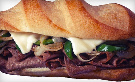 $10 for $20 Worth of Steak Sandwiches, Burgers, and Hoagies at Bongiorno’s Philly Steak Shop