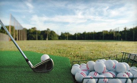 Round of Mini Golf with Driving-Range Balls and Ice Cream or Drinks for Two or Four at AllGolf Center (Up to 51% Off)