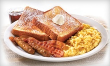 Diner Food at Denny's (Up to 53% Off). Two Options Available.