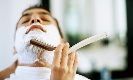 Cut or Sauna at The Green Door Organic Salon Spa and Barber Studios (Up to 68% Off). Three Options Available.