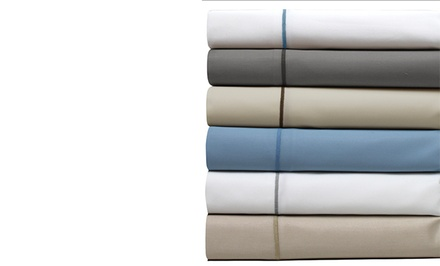 1,000-Thread-Count Egyptian Cotton Rich 6-Piece Satin Ribbon Sheet Sets
