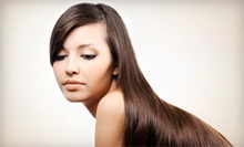 Haircut, Blowout, and MoroccanOil Treatment with Optional Color or Partial Highlight at Bonne Vie Salon (Up to 70% Off)