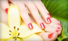 One or Two OPI Gel Manicures and Regular Pedicures at Glamour Center (Up to 54% Off)