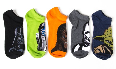 Star Wars Men's No Show Socks 10-Pack