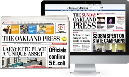 13-Week Daily Subscription or 52-Week Sunday Subscription to The Oakland Press (Up to $78 Off)