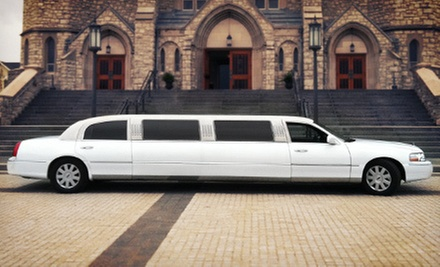 Four-Hour Stretch-Limo Ride for 10 or 20 from First Class Limousine (Up to 51% Off)