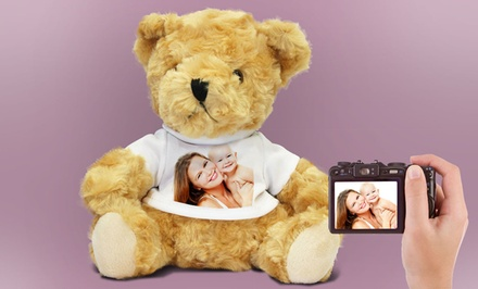 Custom Mother's Day Photo Teddy Bear with Heart-Shaped Photo Key Ring