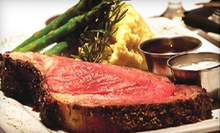 Steak-House Cuisine at The Wild Mushroom Steak House &amp; Lounge in Weatherford (Up to 51% Off). Two Options Available.