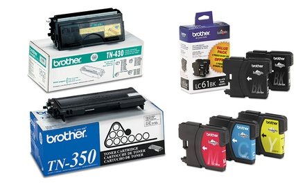 groupon daily deal - Brother Ink and Toner. Multiple Tones and Page Yields Available from $23.49–$76.99. Free Returns.
